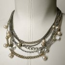 chain, pearls and crystal necklace