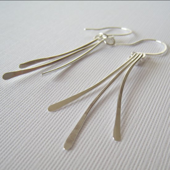 Sterling Silver Earrings - Curved Paddles