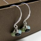 Water Lily- Jade, Amazonite, and Onyx Earrings