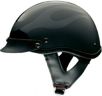 Ghost Flames Motorcycle Half Helmet - DOT Approved