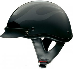 Ghost Flames Motorcycle Half Helmet - DOT Approved