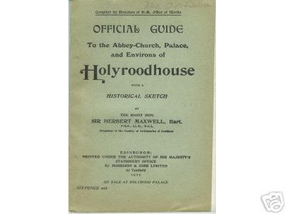 OFFICIAL GUIDE TO HOLYROODHOUSE 1919