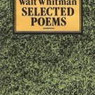 SELECTED POEMS WALT WHITMAN