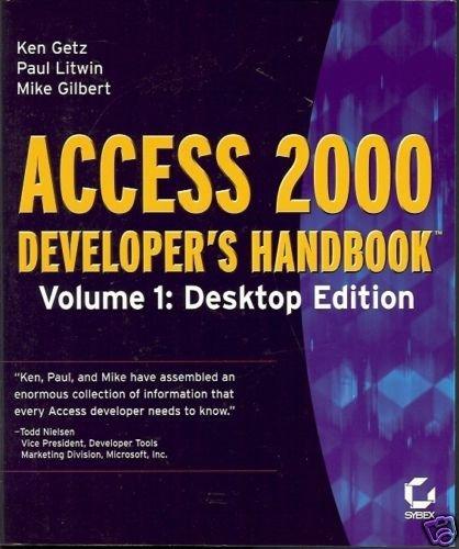 ACCESS 2000 DEVELOPER'S HANDBOOK VOL 1 DESKTOP EDITION