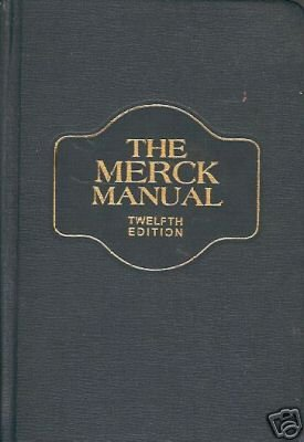 MERCK MANUAL TWELFTH EDITION OF DIAGNOSIS & THERAPY