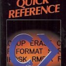 MS-DOS QUICK REFERENCE By Que Corp