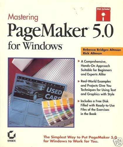 MASTERING PAGEMAKER 5.0 FOR WINDOWS