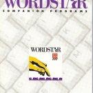 WORDSTAR COMPANION PROGRAMS 5.5 by WordStar Internation