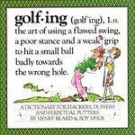 Golfing Dictionary Humor Henry Beard Roy McKie