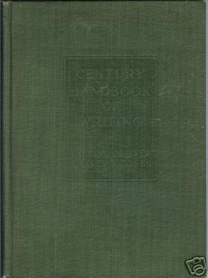 CENTURY HANDBOOK OF WRITING BY Greever & Jones 1922