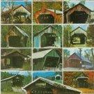 VERMONT COVERED BRIDGES POSTCARD RPPC