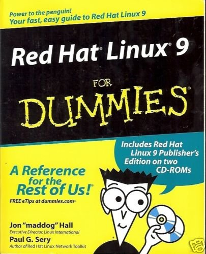RED HAT LINUX 9 FOR DUMMIES BY HALL AND SERY