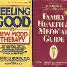 FAMILY HEALTH & MEDICAL GUIDE FEELING GOOD LOT 2 BOOKS