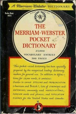 THE MERRIAM-WEBSTER POCKET DICTIONARY 1947