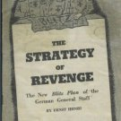 THE STRATEGY OF REVENGE NEW BLITZ PLAN 1961 HENRI