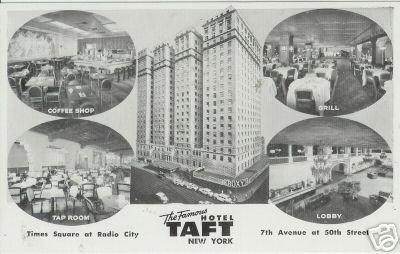 THE FAMOUS HOTEL TAFT NEW YORK Radio City RPPC