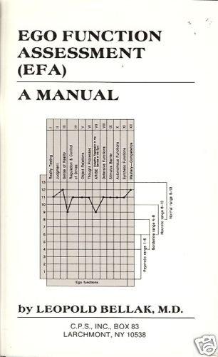 EGO FUNCTION ASSESSMENT (EFA) A MANUAL BELLAK 1989