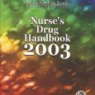 NURSE'S DRUG HANDBOOK 2003 blanchard & Loeb