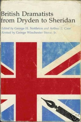 BRITISH DRAMATISTS FROM DRYDEN TO SHERIDAN