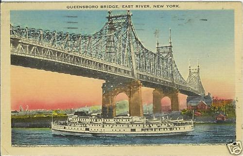QUEENSBORO BRIDGE EAST RIVER NEW YORK