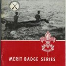 CANOEING 1965 Merit Badge Series BSA