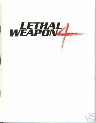 LETHAL WEAPON 4 MOVIE SCRIPT