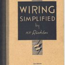WIRING SIMPLIFIED 1951 22ND EDITION H. P. RICHTER SC