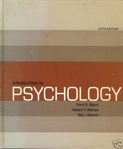 INTRODUCTION TO PSYCHOLOGY FIFTH EDITIION