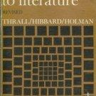 A HANDBOOK TO LITERATURE Thrall Hibbard Holman 1960