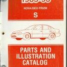 1985-93 NOVA/GEO PRIZM S PARTS AND ILLUSTRATION CATALOG