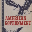 AMERICAN GOVERNMENT 1954 WILLIAM A MCCLENAGHAN