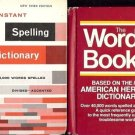 DICTIONARIES HERITAGE & SPELLING LOT OF 2 BOOKS