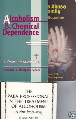 3 BOOK LOT ALCOHOLISM CHEMICAL DEPENDENCE SUBSTANCE ABU