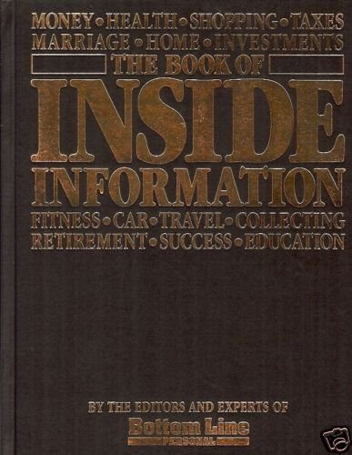 THE BOOK OF INSIDE INFORMATION FITNESS,  CAR, TRAVEL, C