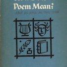 HOW DOES A POEM MEAN? JOHN CIARDI 1959