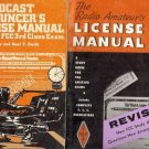 BROADCAST ANNOUNCER'S LICENSE MANUAL LOT OF 2 BOOKS