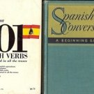 DICTIONARY 501 SPANISH VERBS LOT OF 2 BOOKS