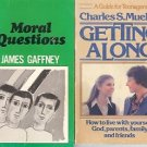 GETTING ALONG MORAL QUESTIONS LOT OF 2 BOOKS