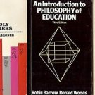 INTRODUCTION TO PHILOSOPHY OF EDUCATION WORLDY PHILOSOPHERS LOT OF 3 BOOKS