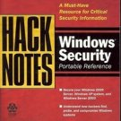 HACKNOTES WINDOWS SECURITY PORTABLE REFERENCE 2003