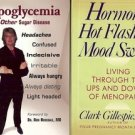 HORMONES HOT FLASHES & MOOD SWINGS & HYPOGLYCEMIA LOT OF 2 BOOKS