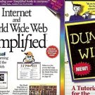 DUMMIES 101 WINDOWS 95 INTERNET WORLD WIDE WEB SIMPLIFIED LOT OF 2 BOOKS