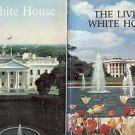THE LIVING WHITE HOUSE & THE WHITE HOUSE A LOT OF 2 BOOKS