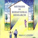 METHODS IN BEHAVIOR RESERACH PAUL C. COZBY