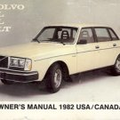 VOLVO DL GL GLT OWNER'S MANUAL 1982 USA CANADA