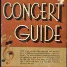 THE STANDARD CONCET GUIDE  1930 UPTON & BOROWSKI