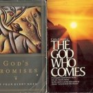 GOD'S PROMISES THE GOD WHO COMES LOT OF 2 BOOKS