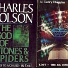 THE GOD OF STONES & SPIDERS  LOT OF 2 BOOKS