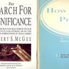 THE SEARCH FOR SIGNIFICANCE LOT OF 2 BOOKS
