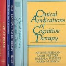 CLINICAL APPLICATIONS OF COGNITIVE THERAPY LEARN PSYCHOTHERAPY LOT OF 5BOOKS